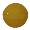produktbild blanket cushion senf, türkis, weinrot