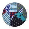 kotulla blanket cushion bunt, bläulich, geometrisch gemustert