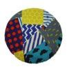 kotulla blanket cushion bunt, geometrisch gemustert, rötlich und gelb