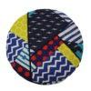 kotulla blanket cushion bunt, geometrisch gemustert, mit paspeln